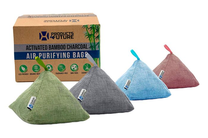4 Pack Of 200g Naturally Activated Bamboo Charcoal Air Purifying Bags