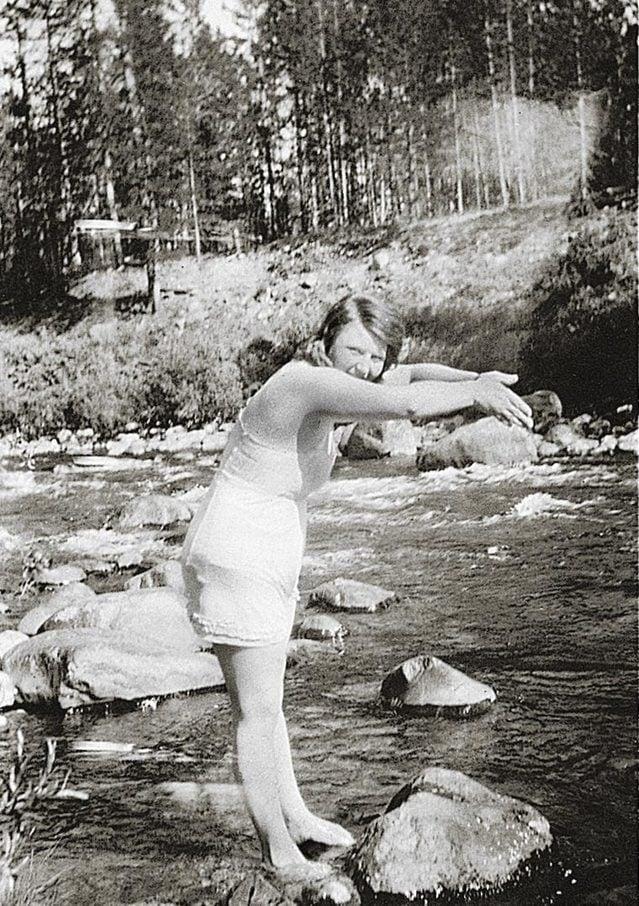 woman in a stream