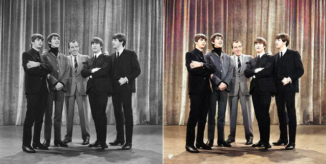 colorized the beatles