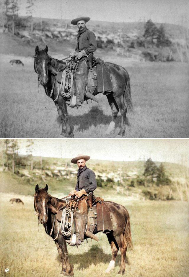 colorized cowboy