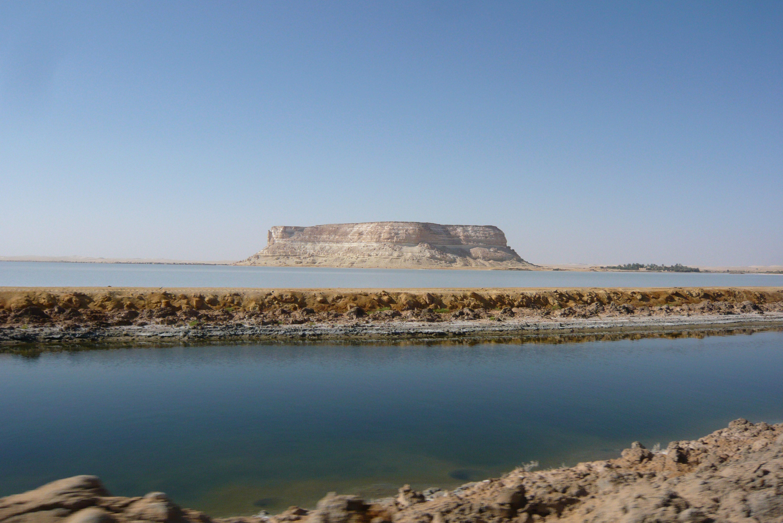 Salt lakes at Siwa Oasis, Egypt