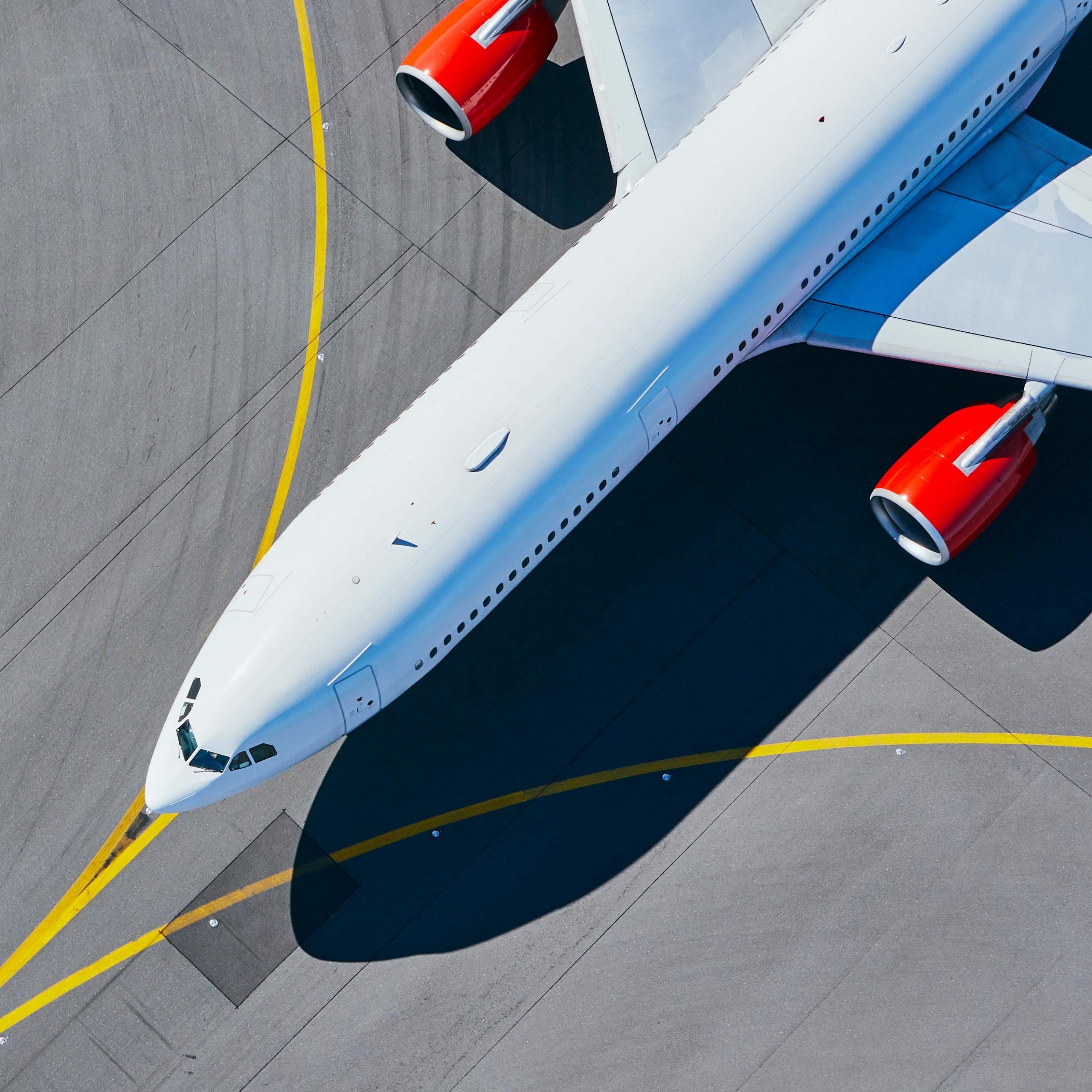 airplane overhead view