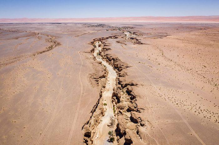 Sesriem Canyon Namib-Naukluft Park Sossusvlei Nambia Aerial