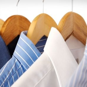 dry cleaned clothes at home