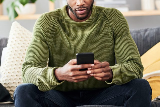 Sending out a few text messages