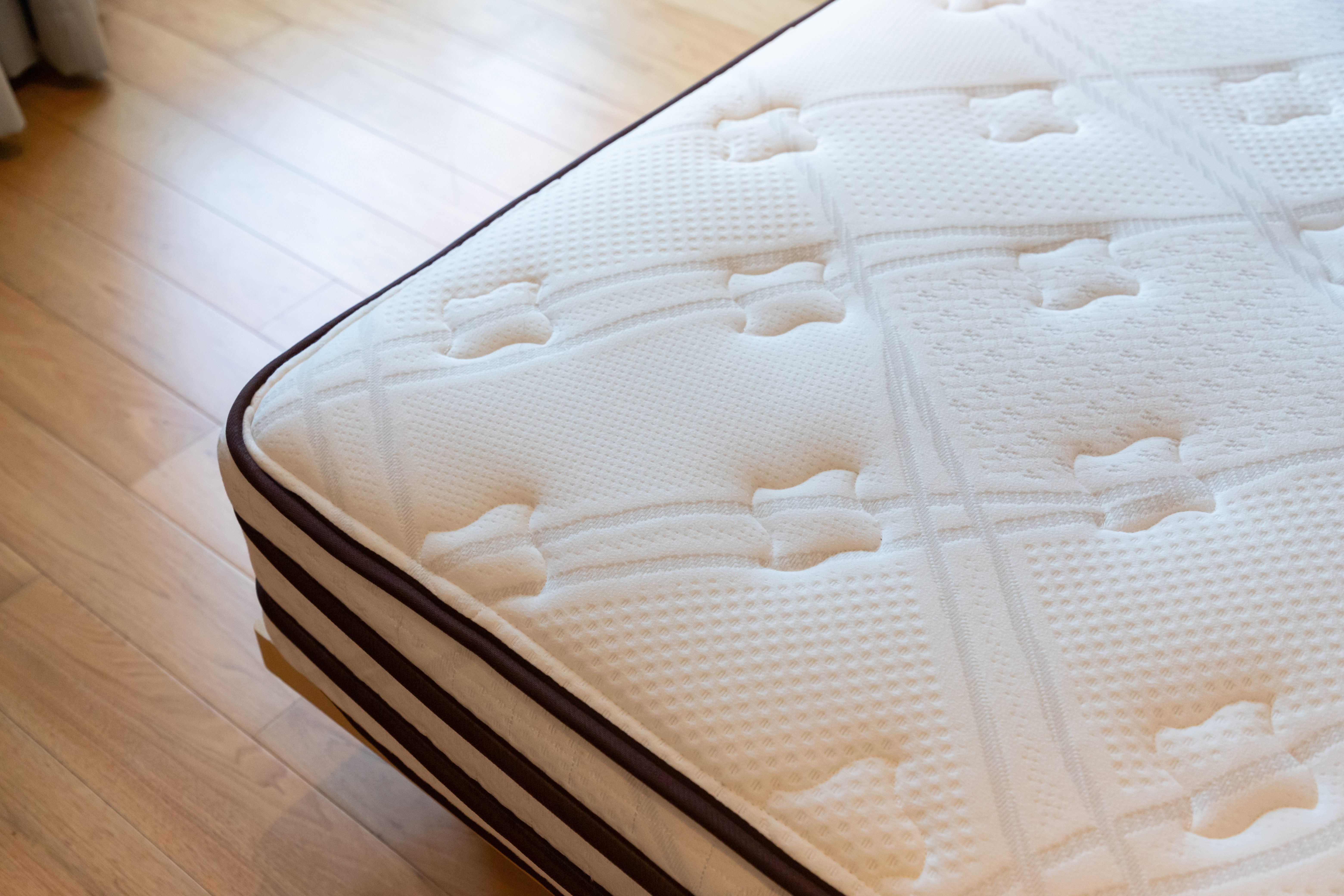 soft mattress, dust mites on bed, concept : allergy in bed room.