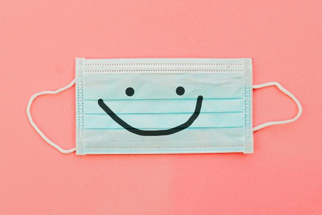 surgical mask with a smile