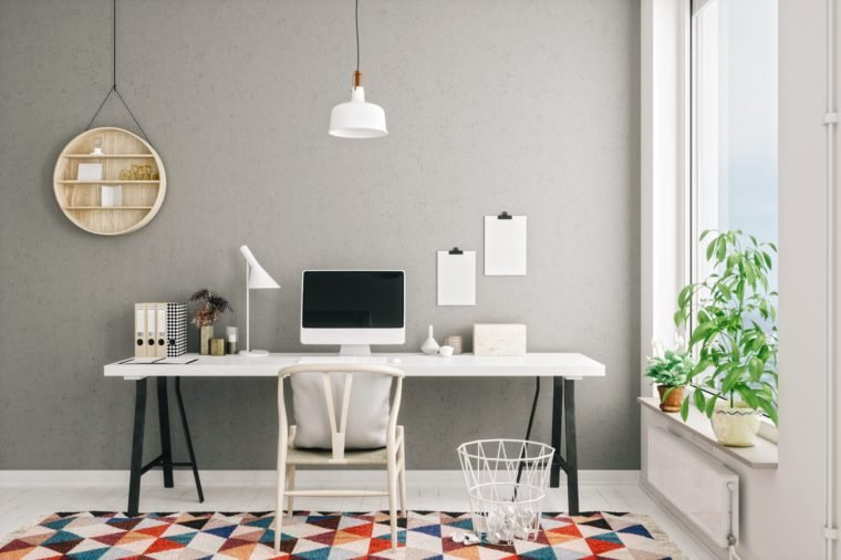 Scandinavian Style Modern Home Office Interior
