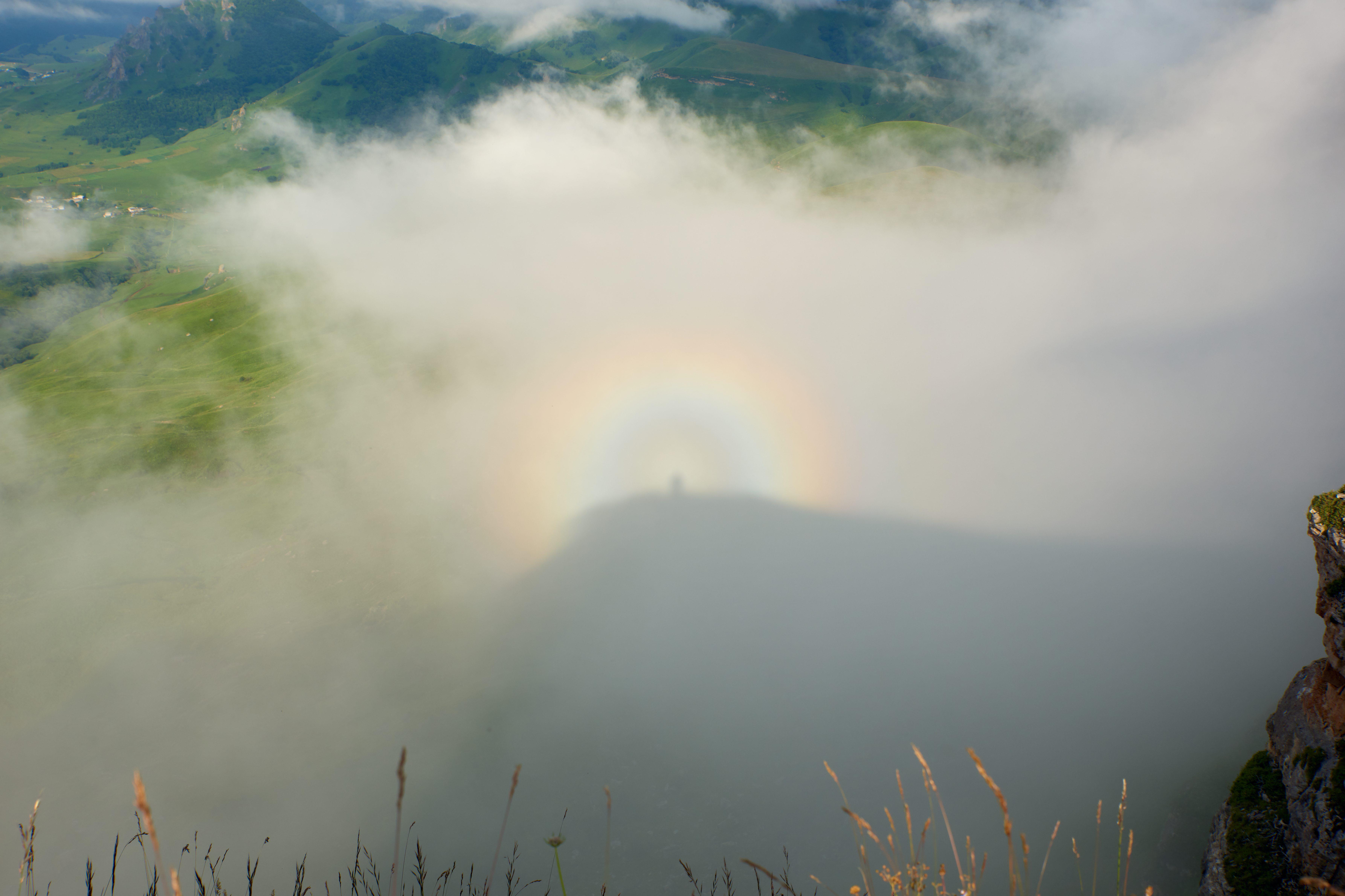 A Brocken spectre, also called Brocken bow or mountain spectre