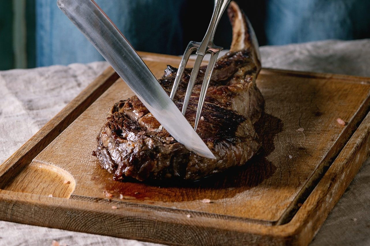 Grilled tomahawk steak