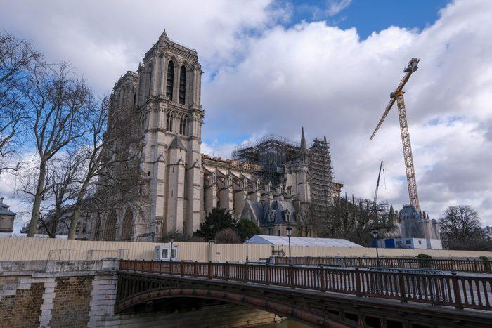 Notre Dame In Paris Under Construction