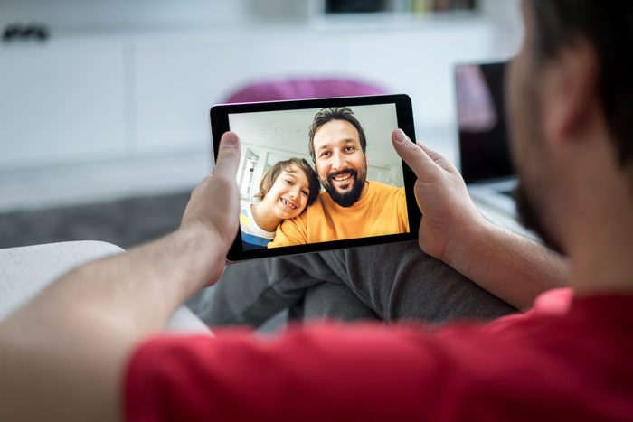 Tablet is the best for video chat with family