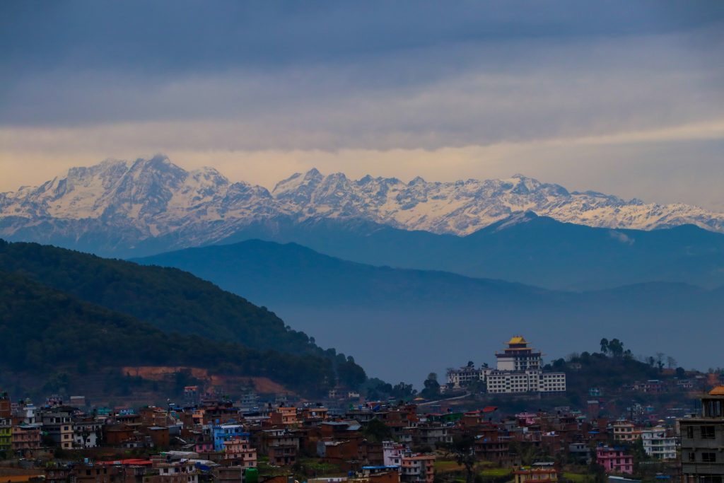 View Of Mountain Range From Kathmandu