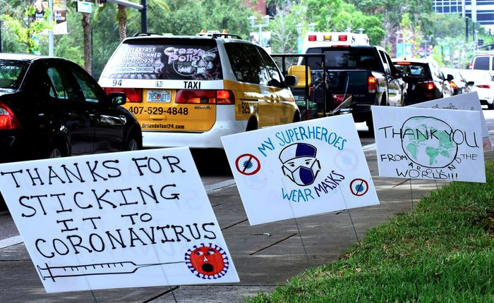 Community Shows Support for Health Care Workers