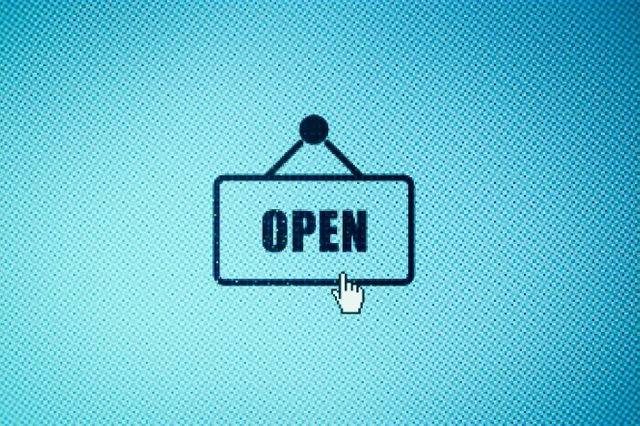 Open for business icon