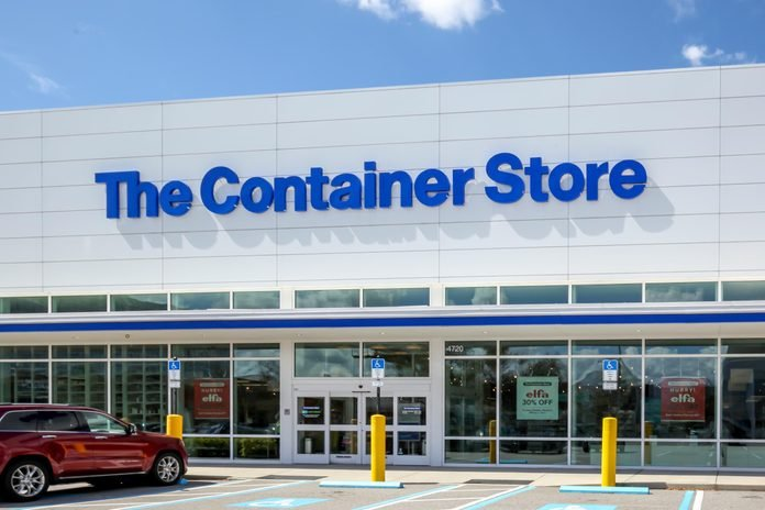 facade of The Container Store in Tampa, Florida
