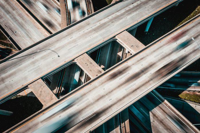 Freeway overpass/ COVID19