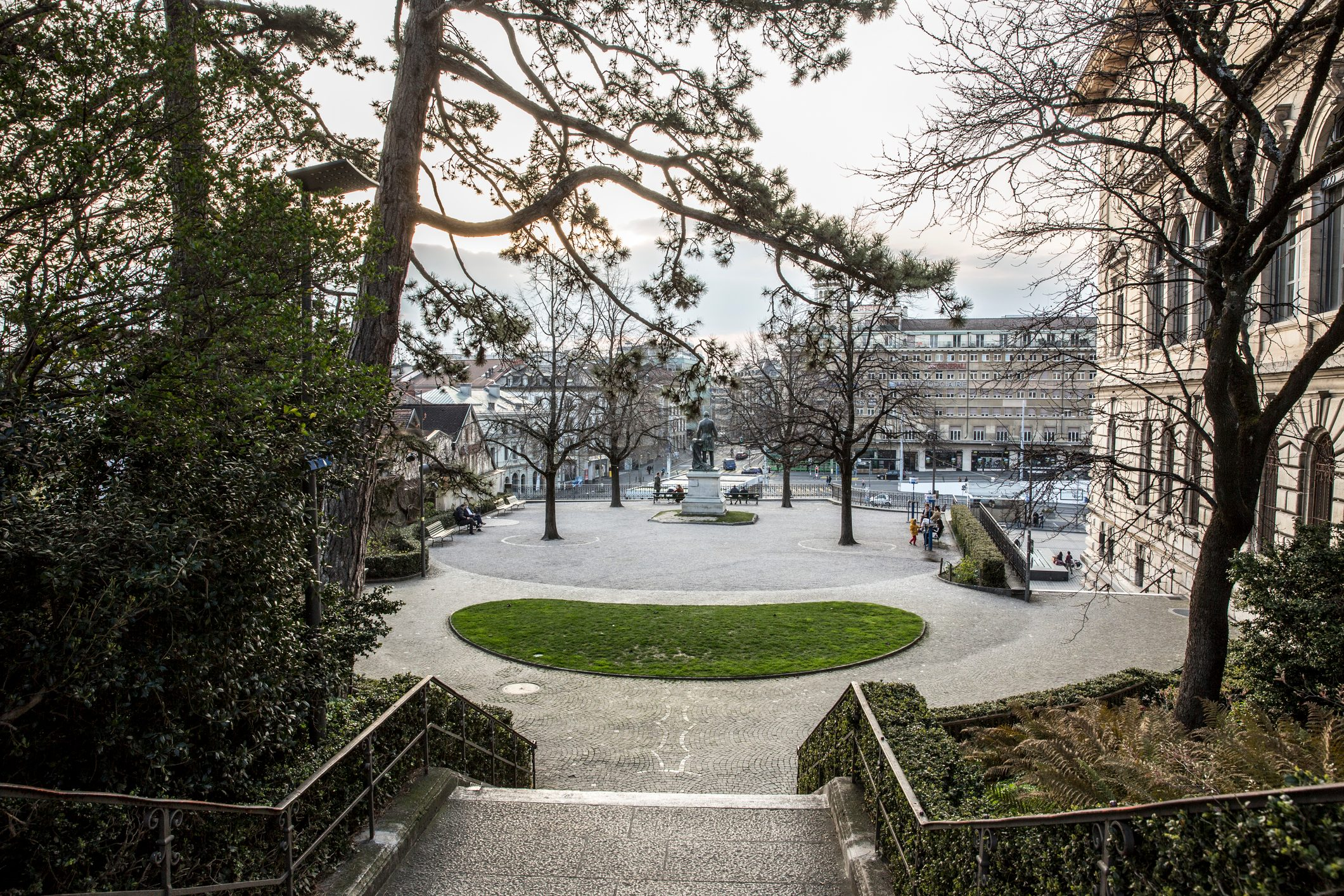The empty parks of Lausanne during COVID-19 quarantine
