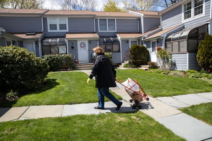 Volunteers Deliver Food To Seniors In Stamford, Connecticut