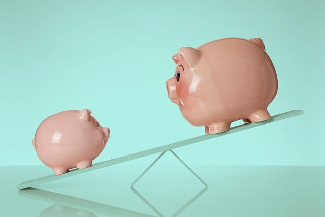 balancing piggy banks