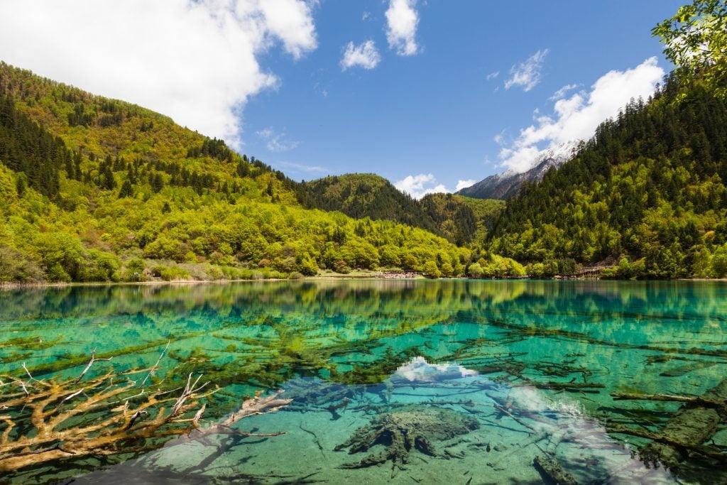 Lake at Jiuzhaigou, Sichuan, China