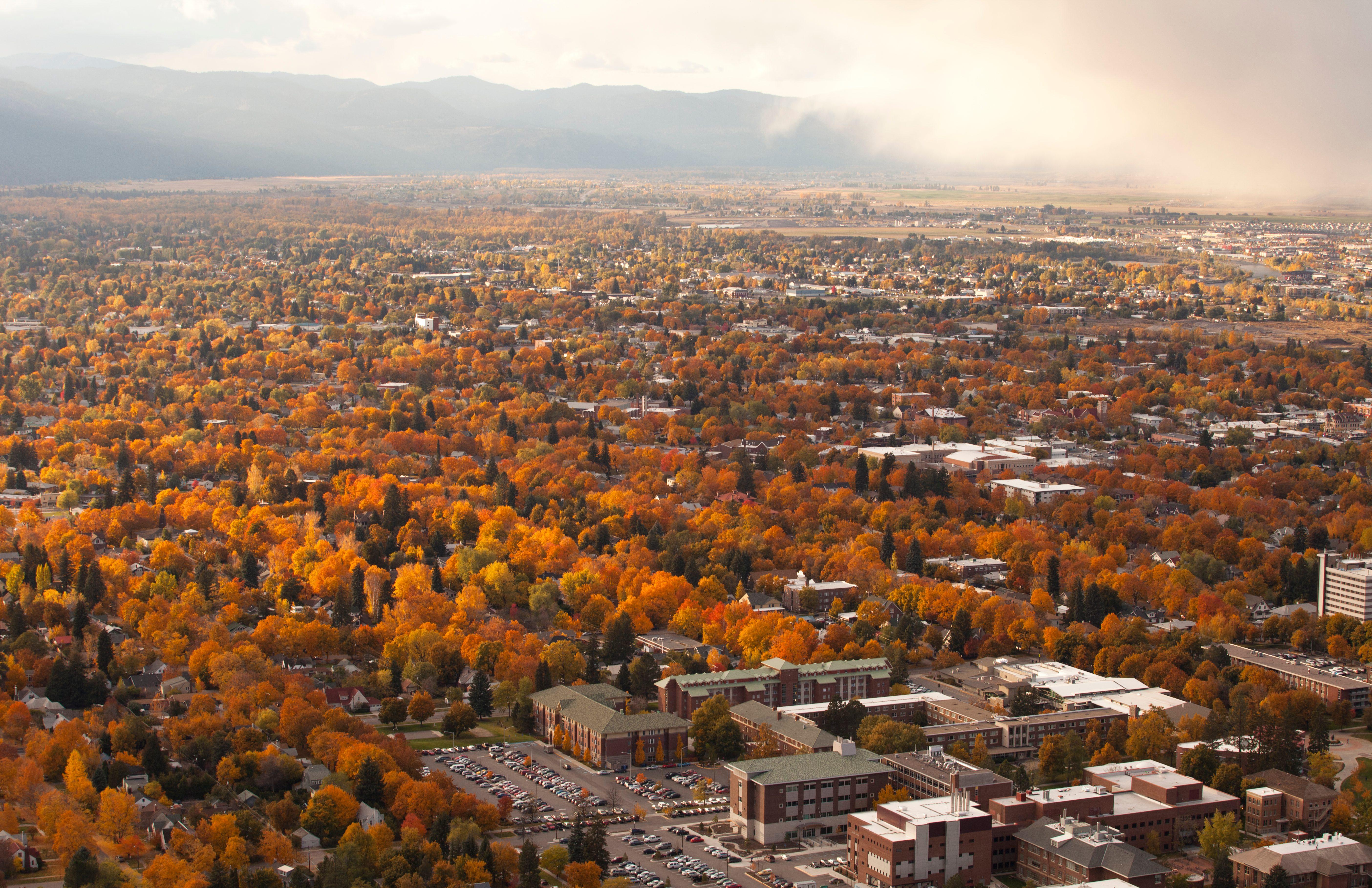 Missoula, Montana in the fall