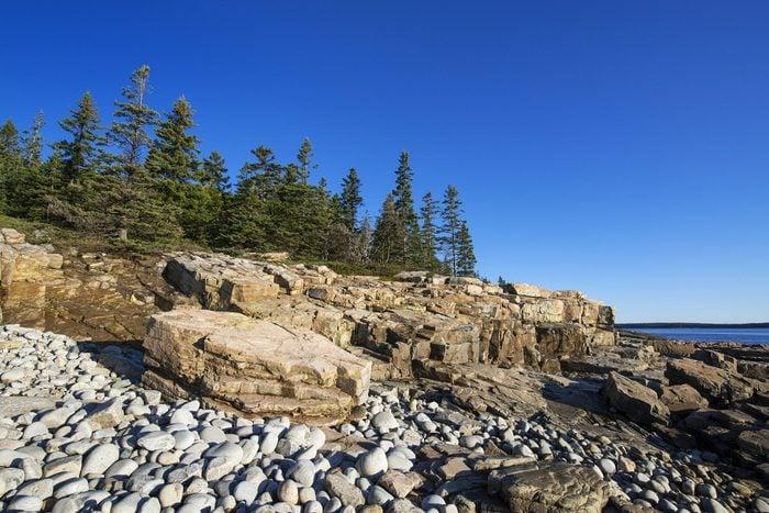 Coastal landscape at Schoodic Peninsula...
