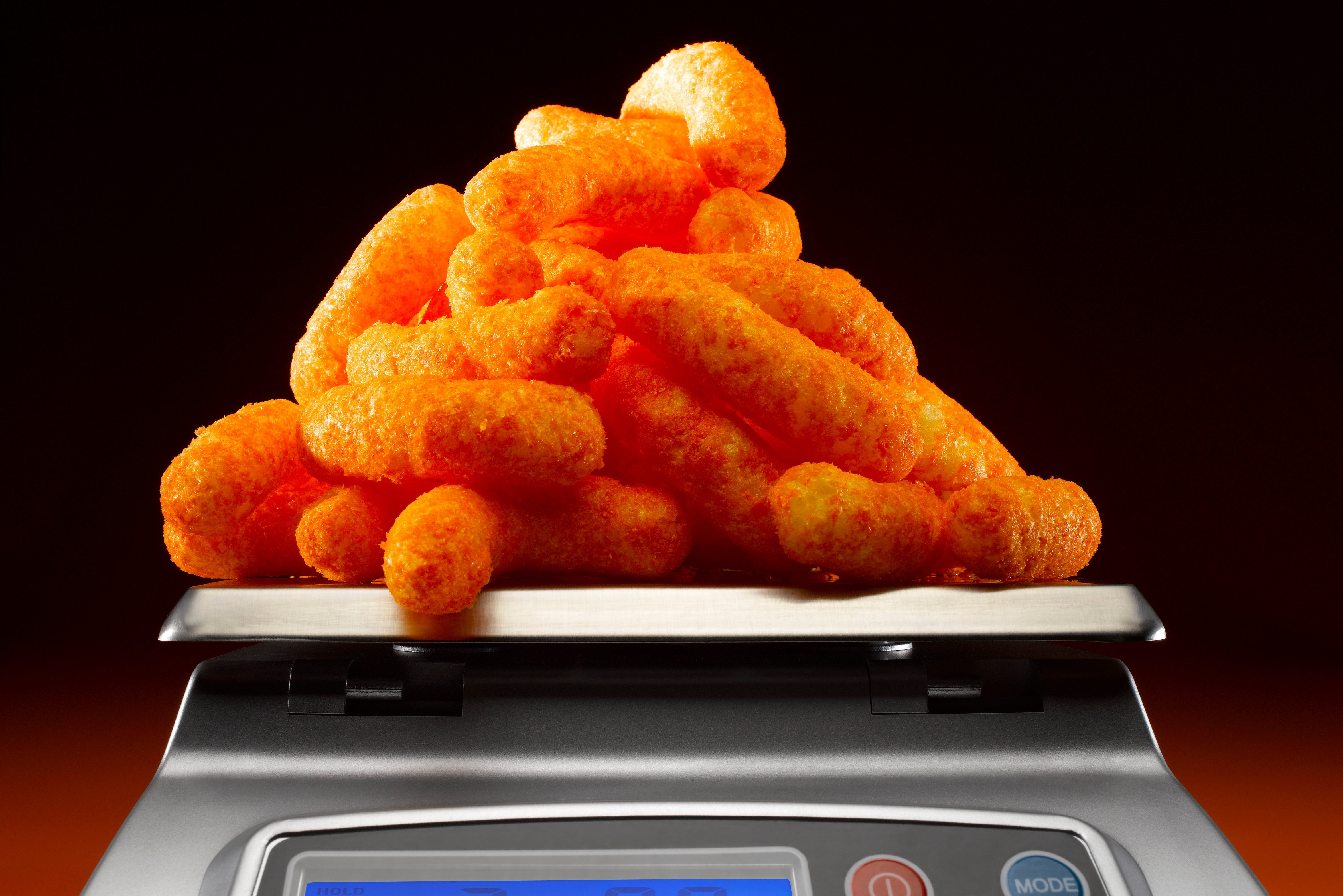 Cheese Curls on Scale