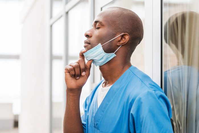 Tired surgeon.