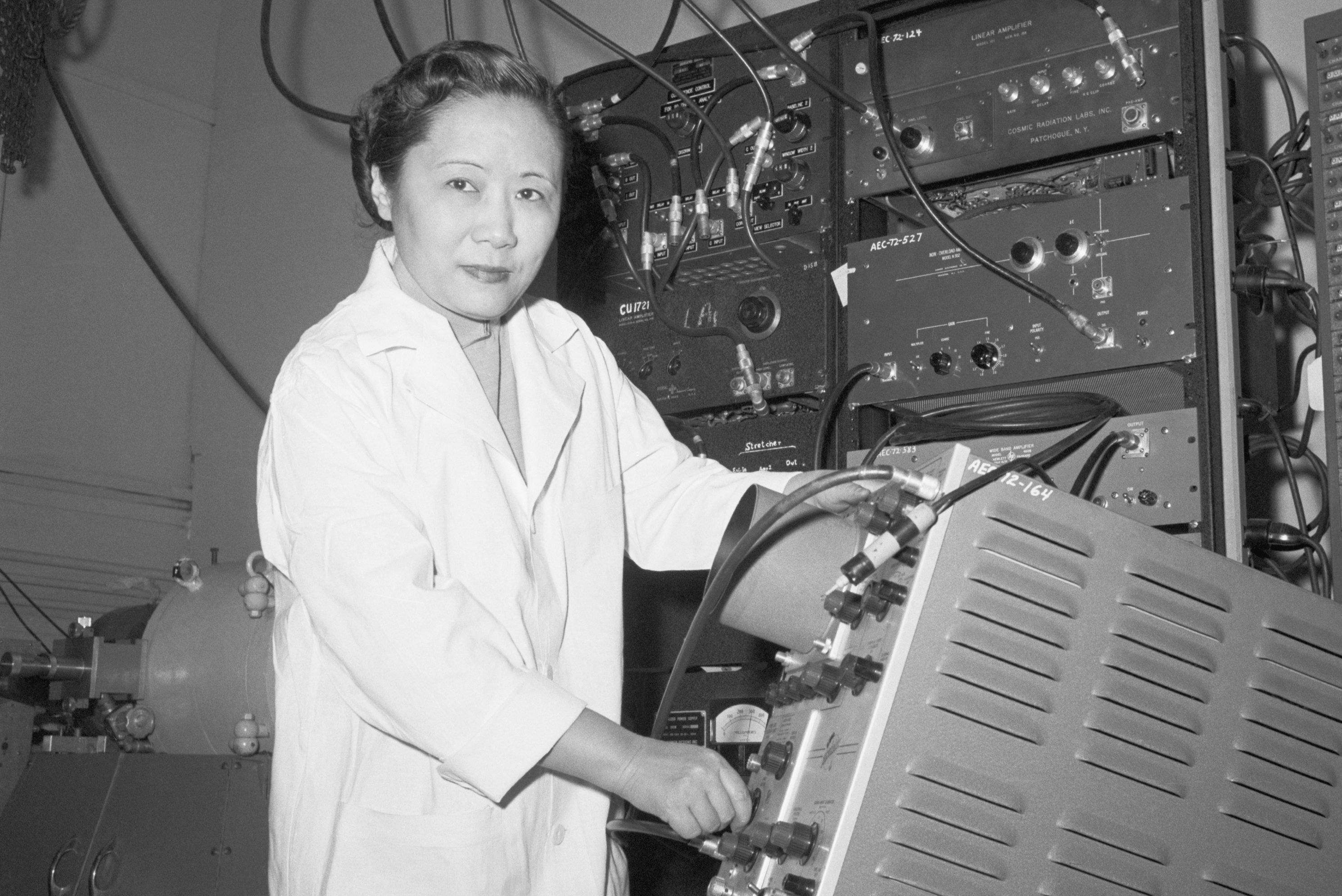 Chien-Shiung Wu in a Laboratory