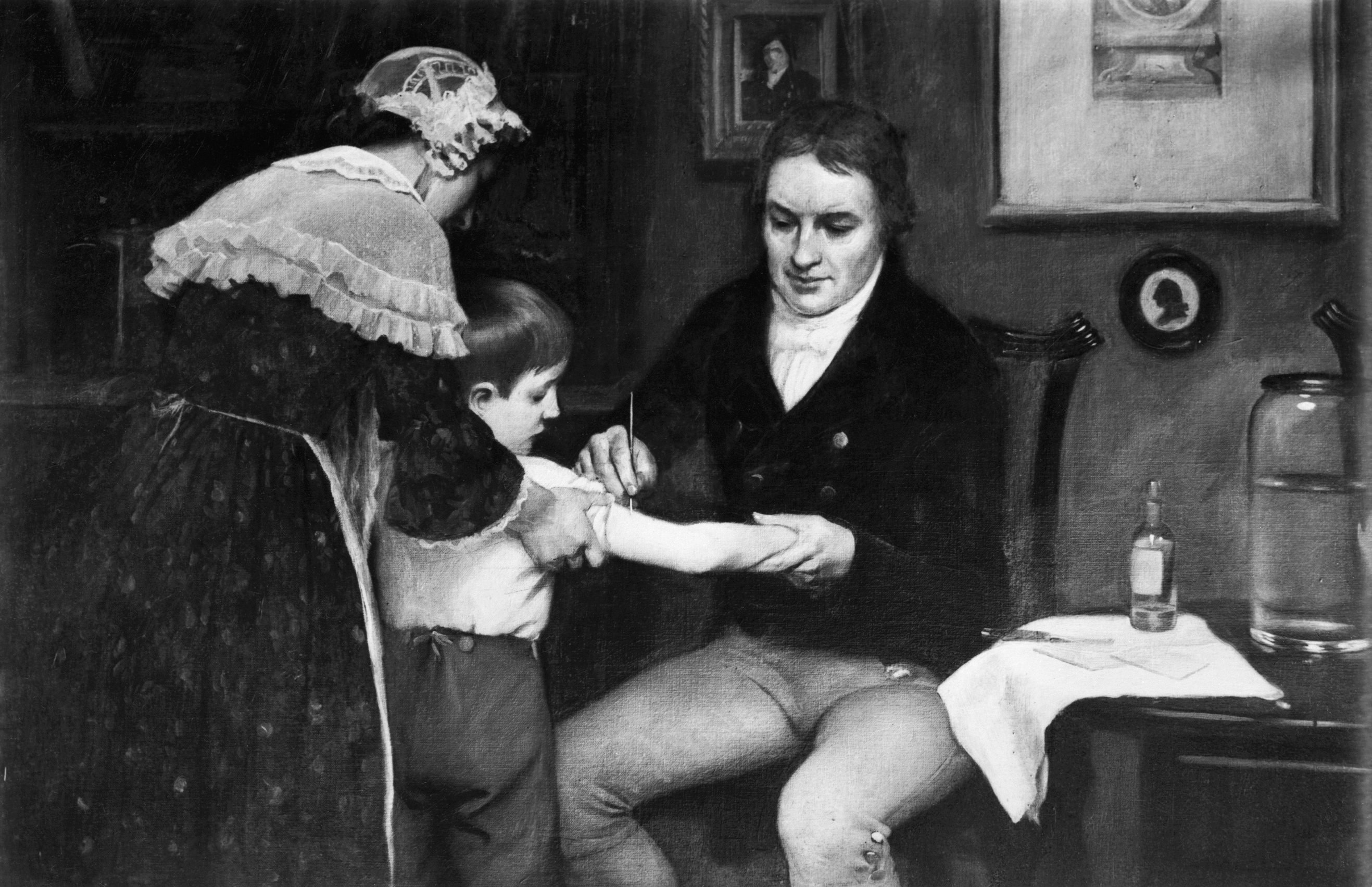 Dr.Edward Jenner Vaccinating Young Boy