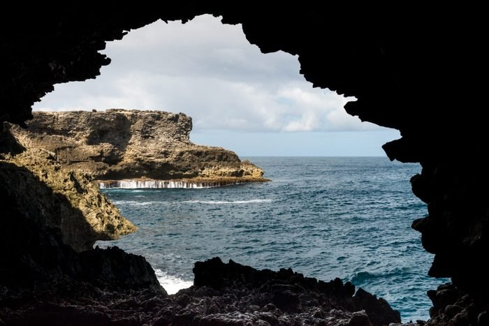 Silhouette from Animal Flower Cave, Barbados