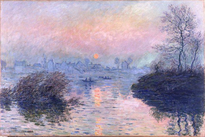 Sunset on the Seine at Lavacourt, Winter Effect. Artist: Monet, Claude (1840-1926)