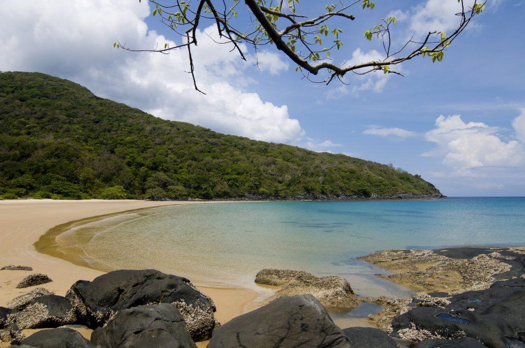 Beautiful Dam Trau beach in Condao island, Vietnam