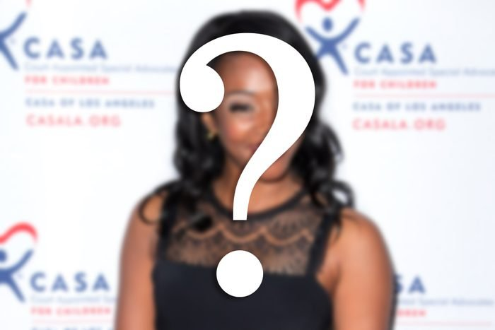 celeb image blurred with a question mark