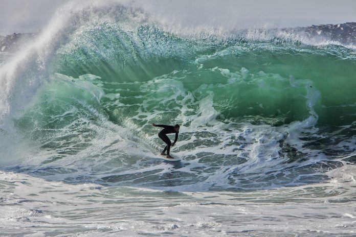 High Surf at the Wedge