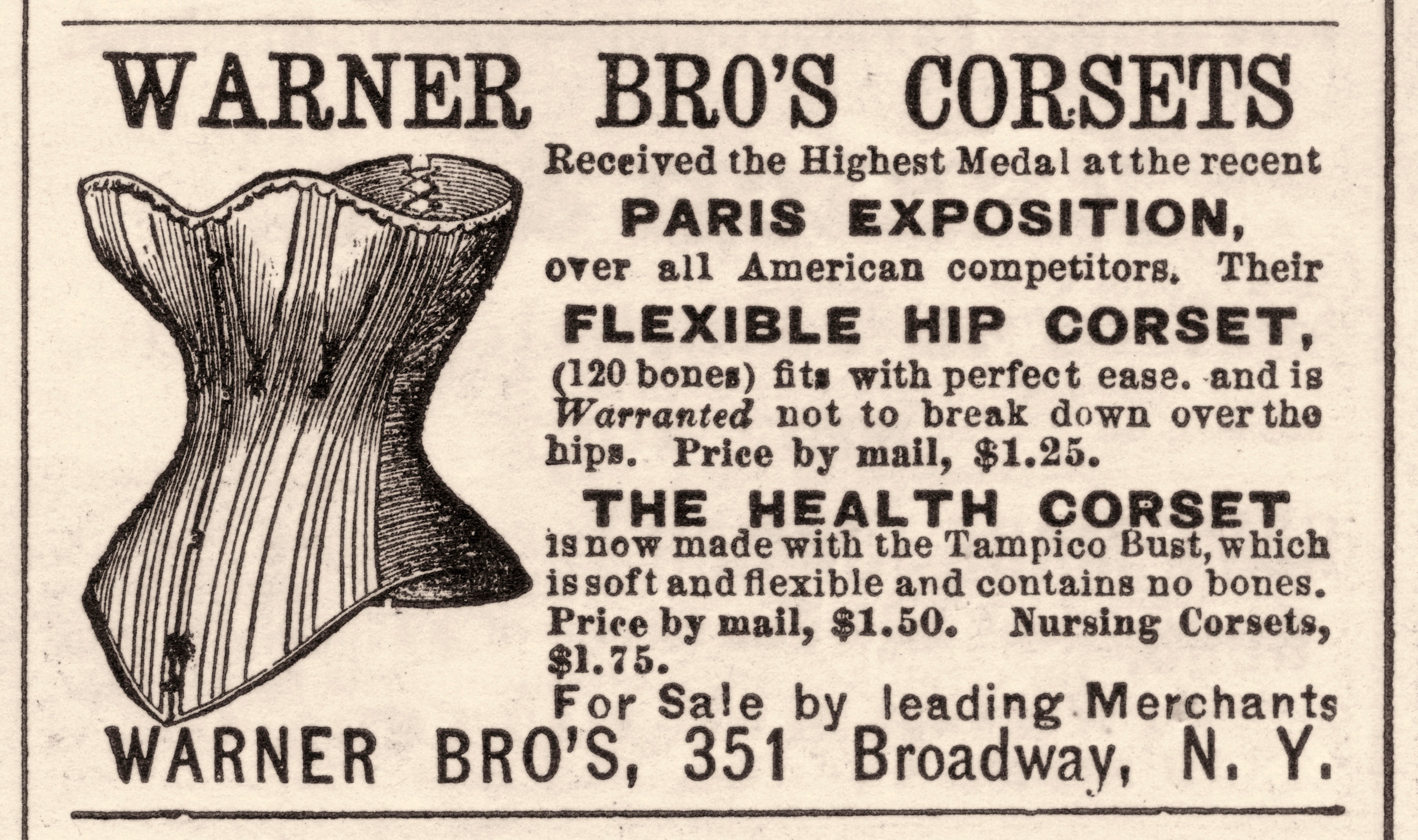 Ad For Warner Brothers Corset