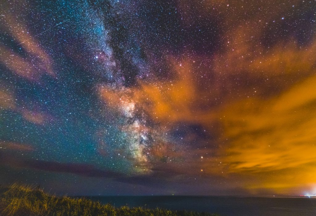 Milky Way rising over Dorset's Jurassic Coast.