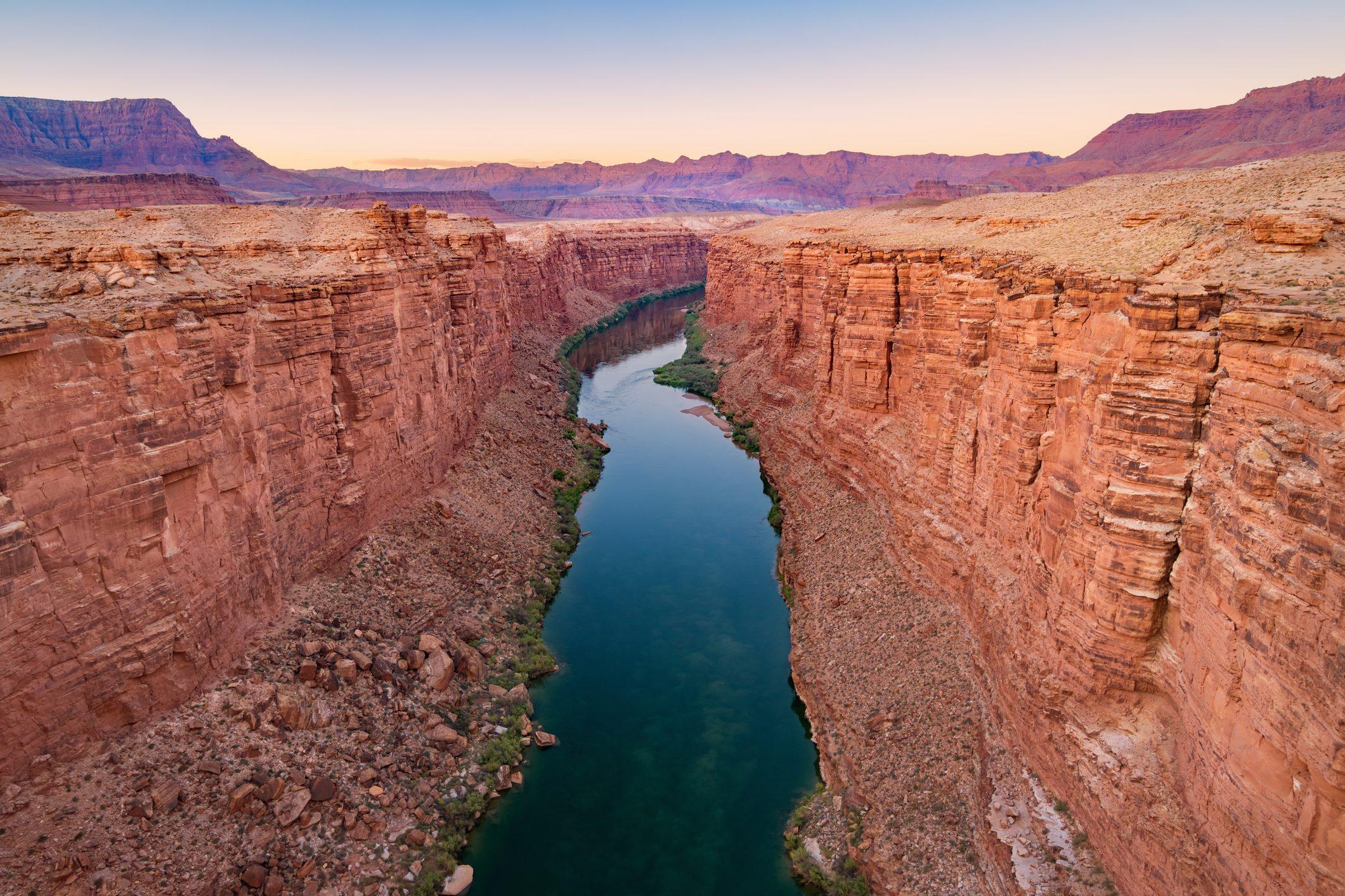 Marble Canyon and Colorado River in Arizona USA
