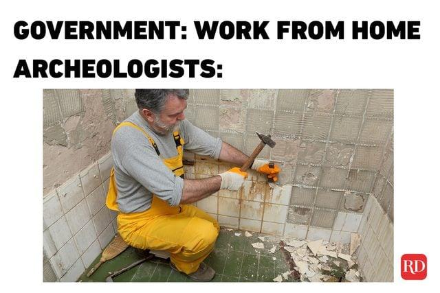 corona archeologists meme