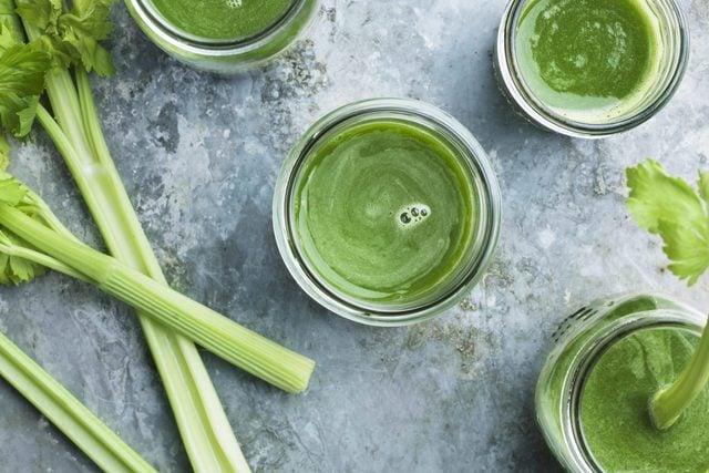 Green celery smoothie
