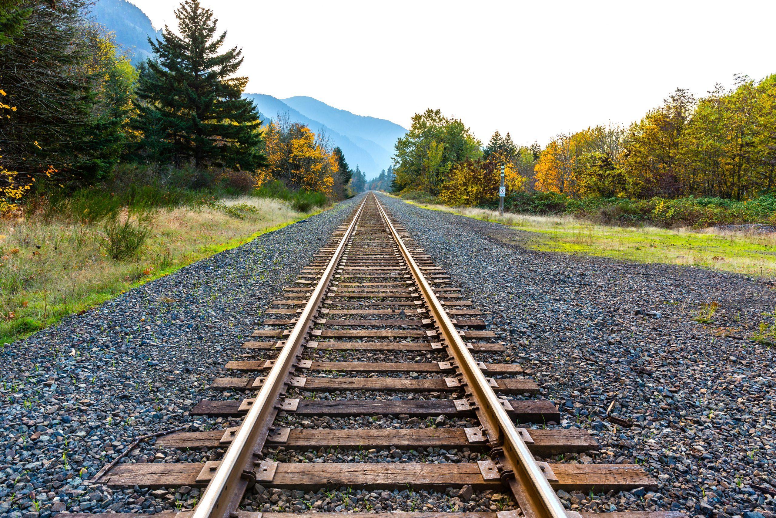 Straight Railroad Lines
