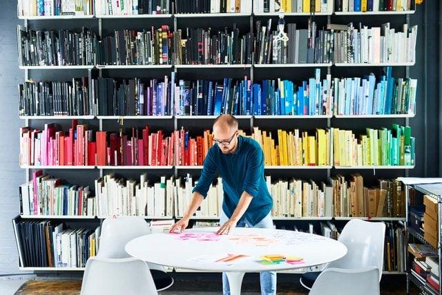 Man working in creative studio