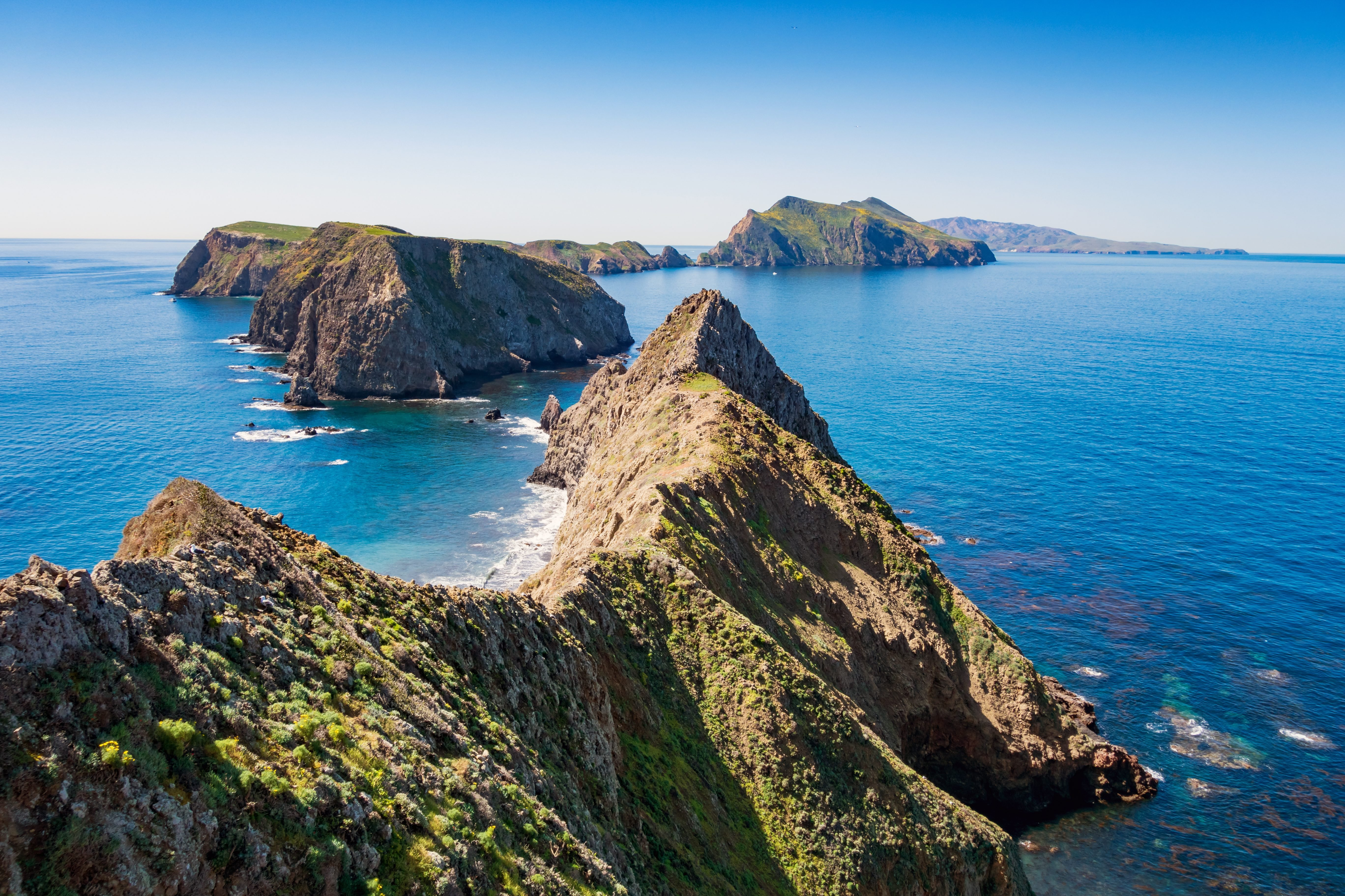 Inspiration Point view on Anacapa Island in Channel Islands National Park California