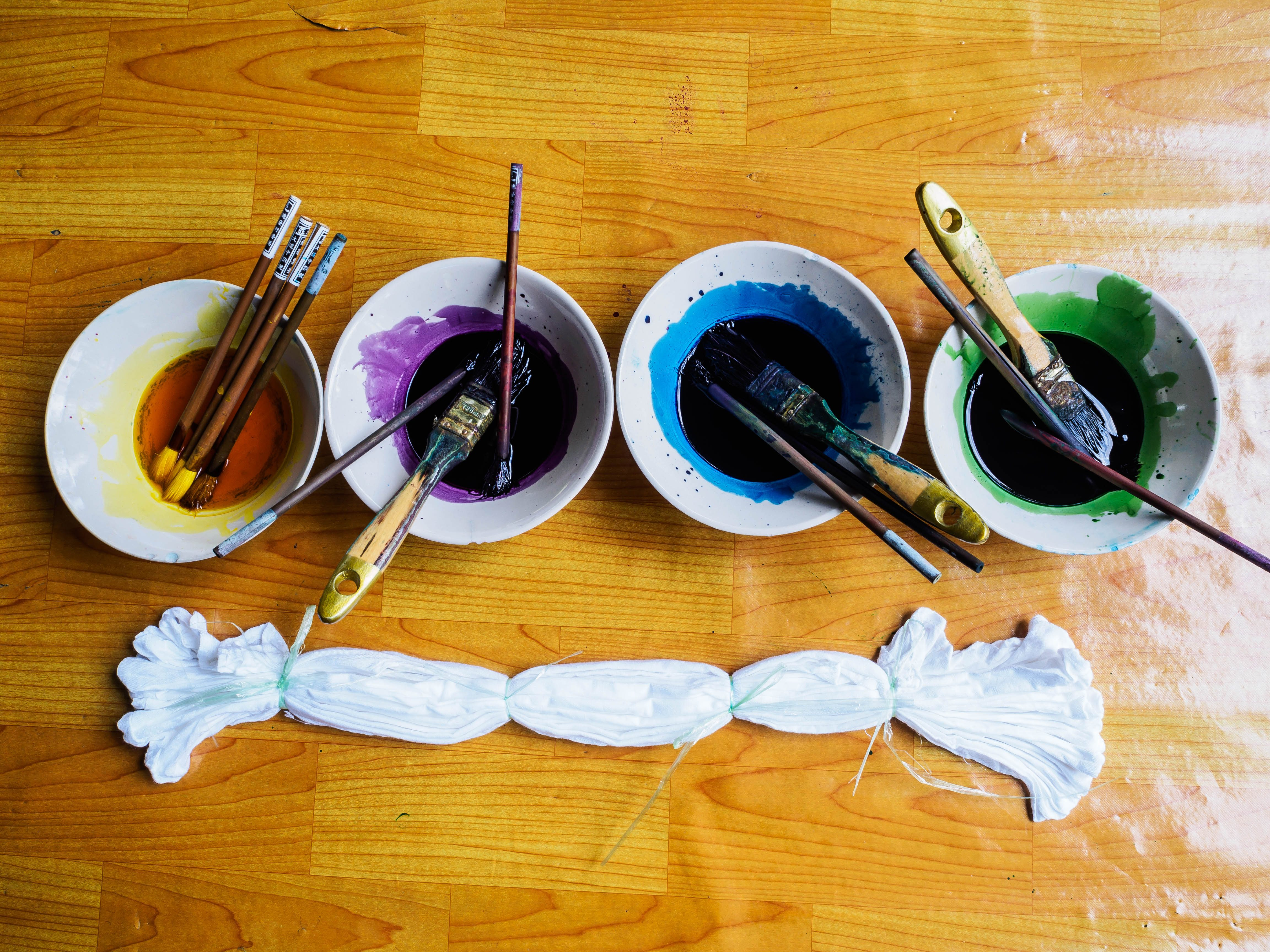 water color palette for tie dye fabric