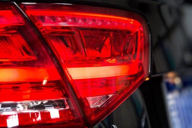 Rear premium car flashlight, isolated white