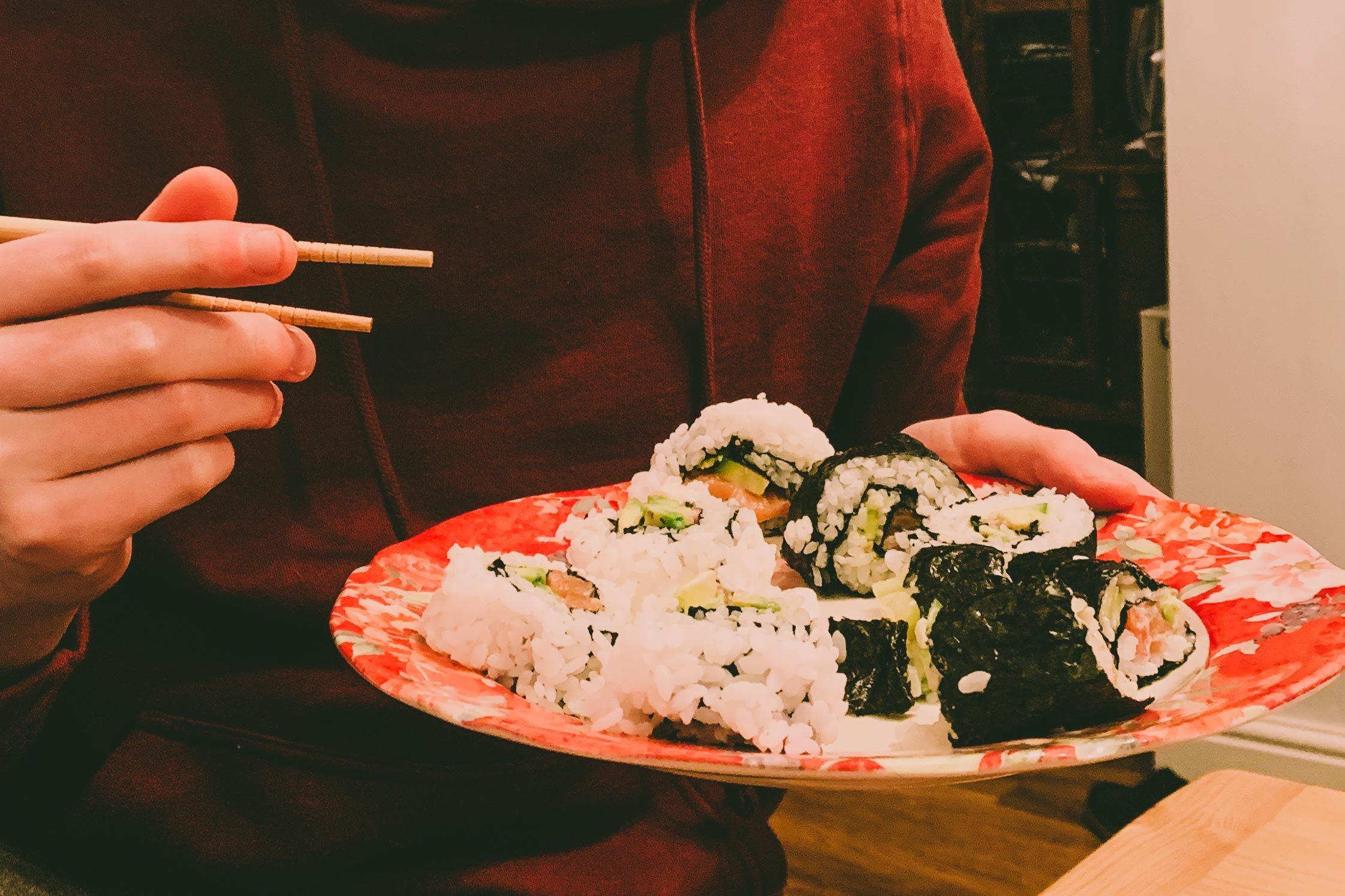 sushi spring break at home