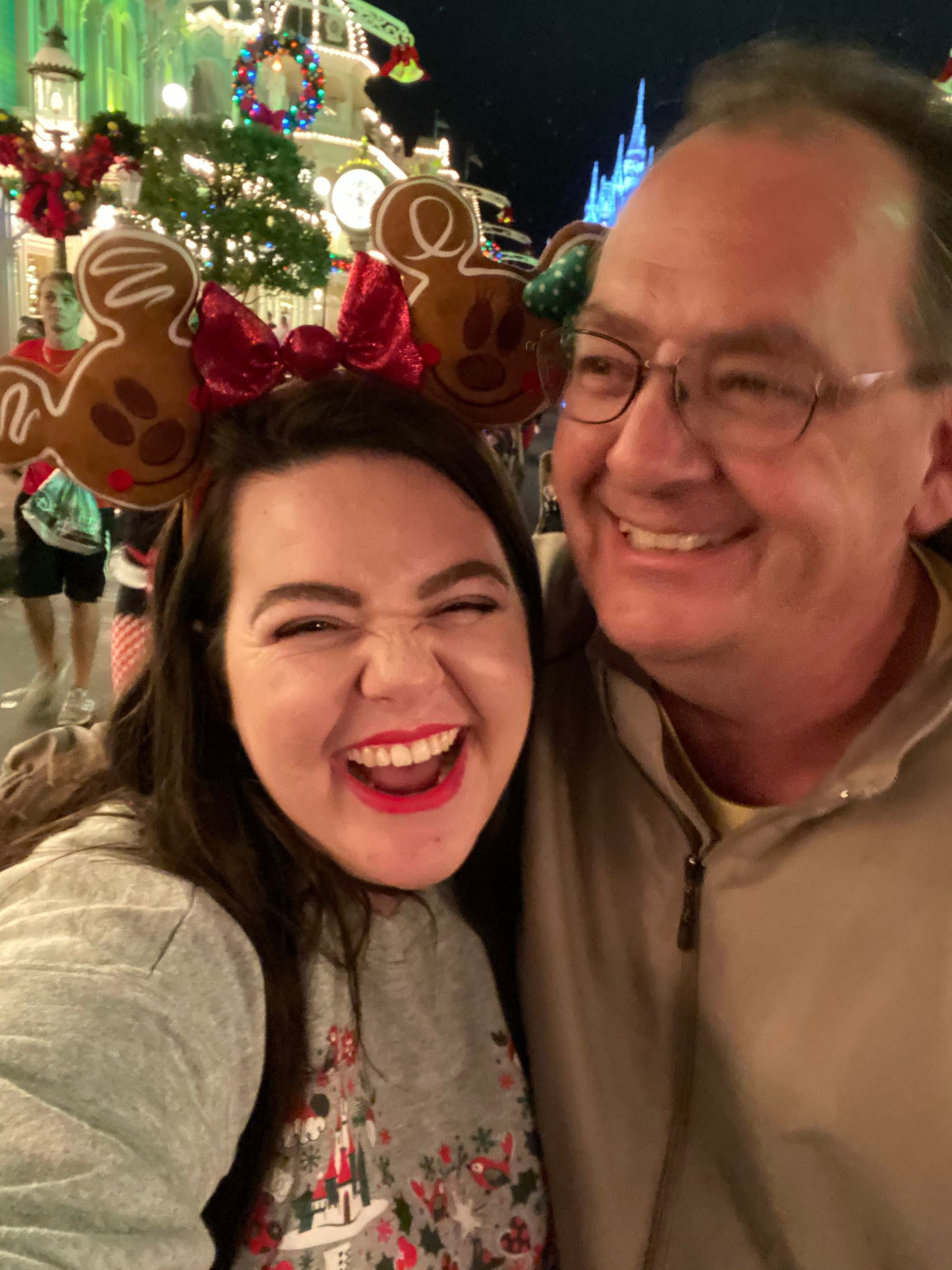 megan dubois and father at disney
