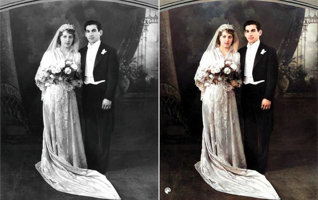 colorized kardashian grandparents