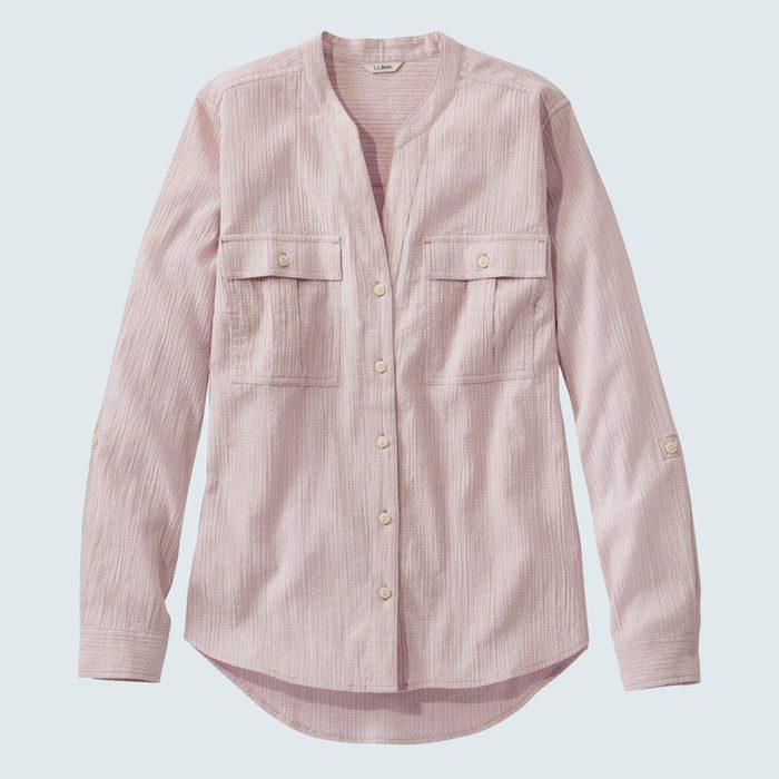 L.l. Bean Soft Organic Cotton Crinkle Shirt Copy